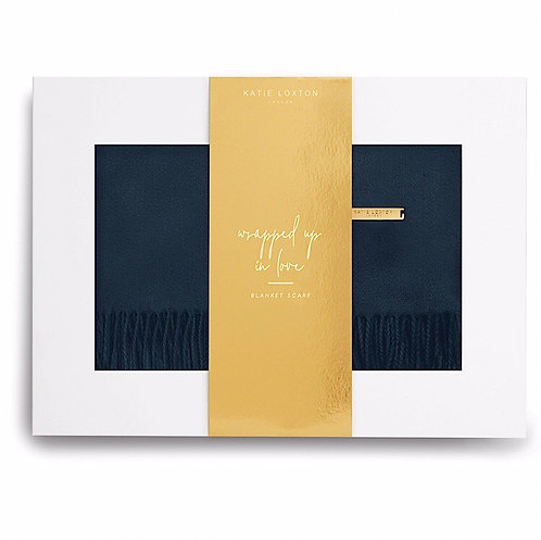Katie Loxton Navy Boxed Scarf