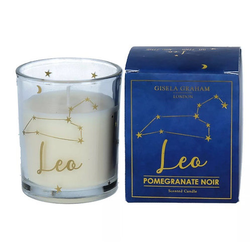 Leo Zodiac Sign Candle