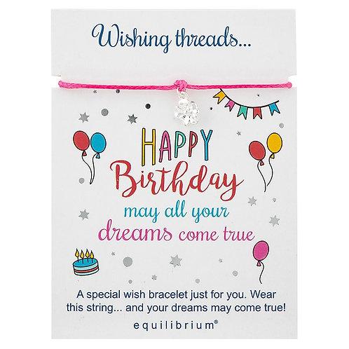 Wish Thread Happy Birthday Bracelet
