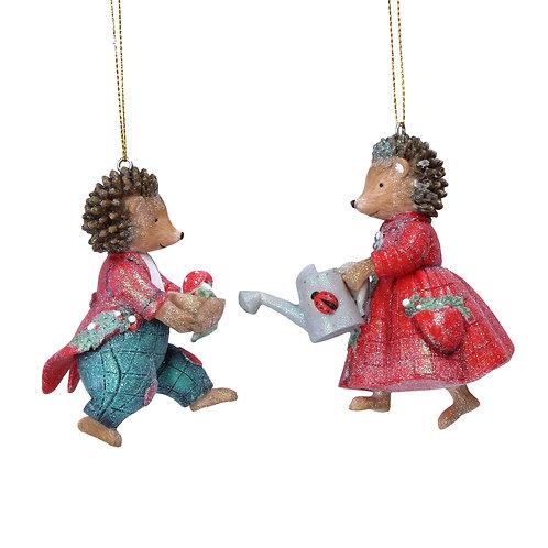 Mrs Hedgehog Hanging Ornament