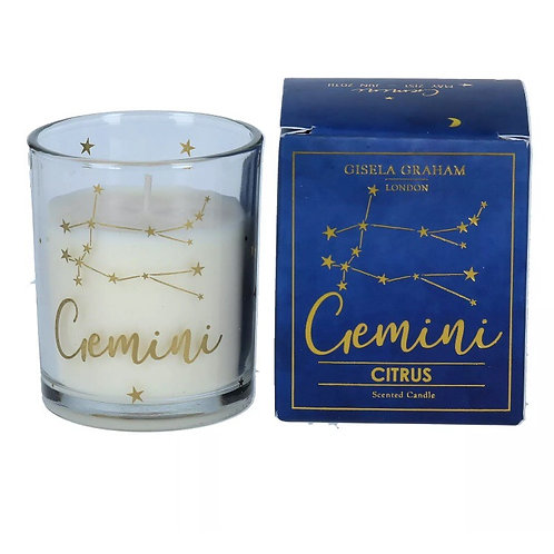 Gemini Zodiac Sign Candle