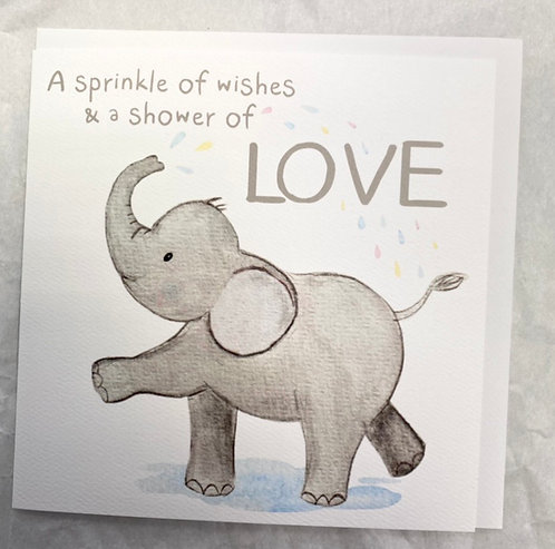 Elephant A Sprinkle of Wishes Card