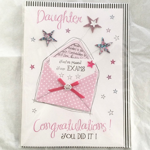 Passed Exams Daughter Card