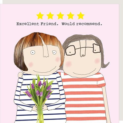 Excellent Friend Birthday Card