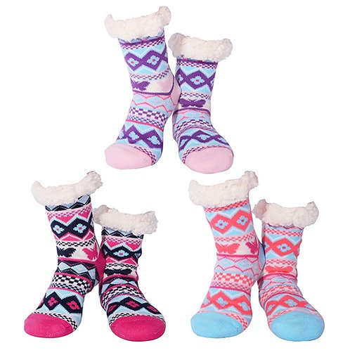Ladies Butterfly Nuzzles Slipper Socks