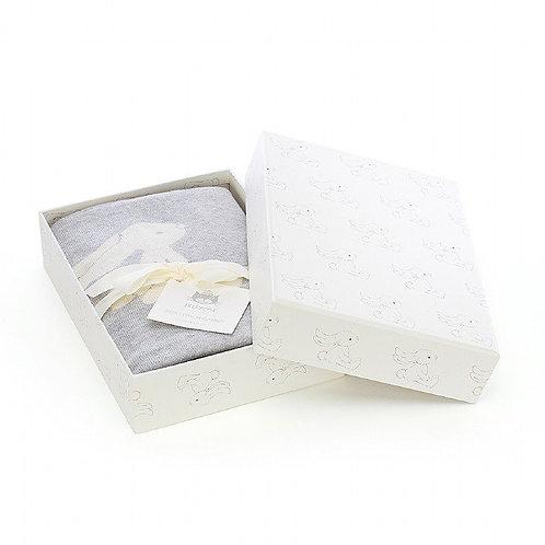 Jellycat Bashful Silver Bunny Blanket