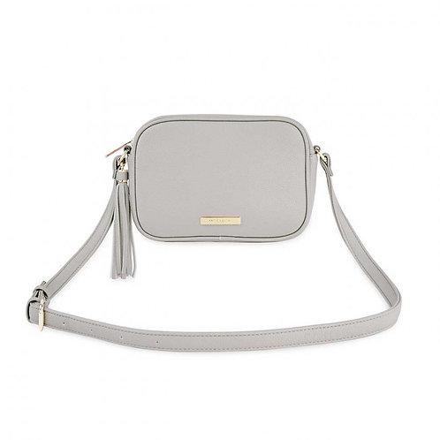 Katie Loxton Grey Sophia Tassel Crossbody Bag