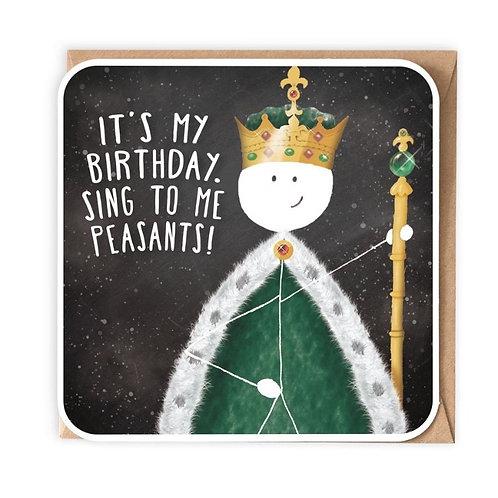 King Sing To Me Peasants Greeting Card