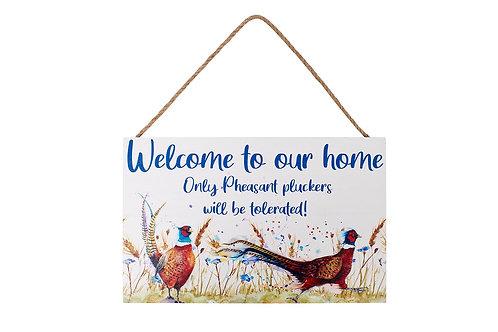 Pheasant Hanging Plaque