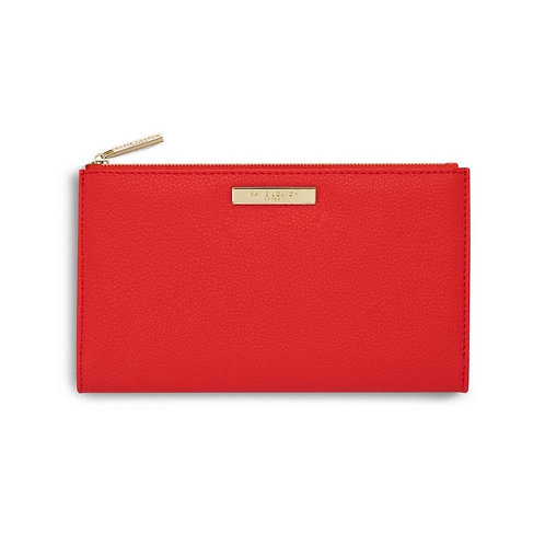 Katie Loxton Red Alise Soft Pebble Fold Out Purse