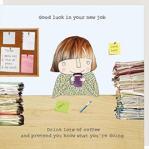 New Job Girl Card