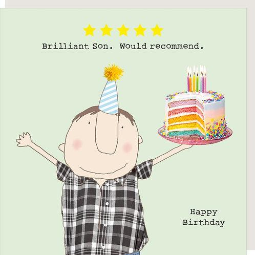 Brilliant Son Birthday Card