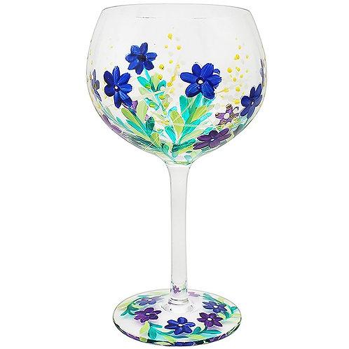 Handpainted Meadow Gin Glass