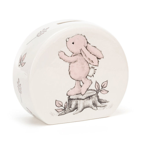 Jellycat Bashful Pink Bunny Money Box