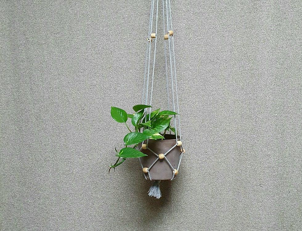 Kasvitar Amppeli  -harmaa/puu