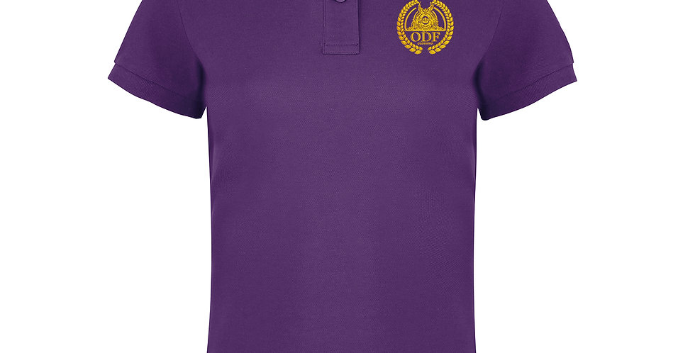 Women's Classic Fitted Purple Polo