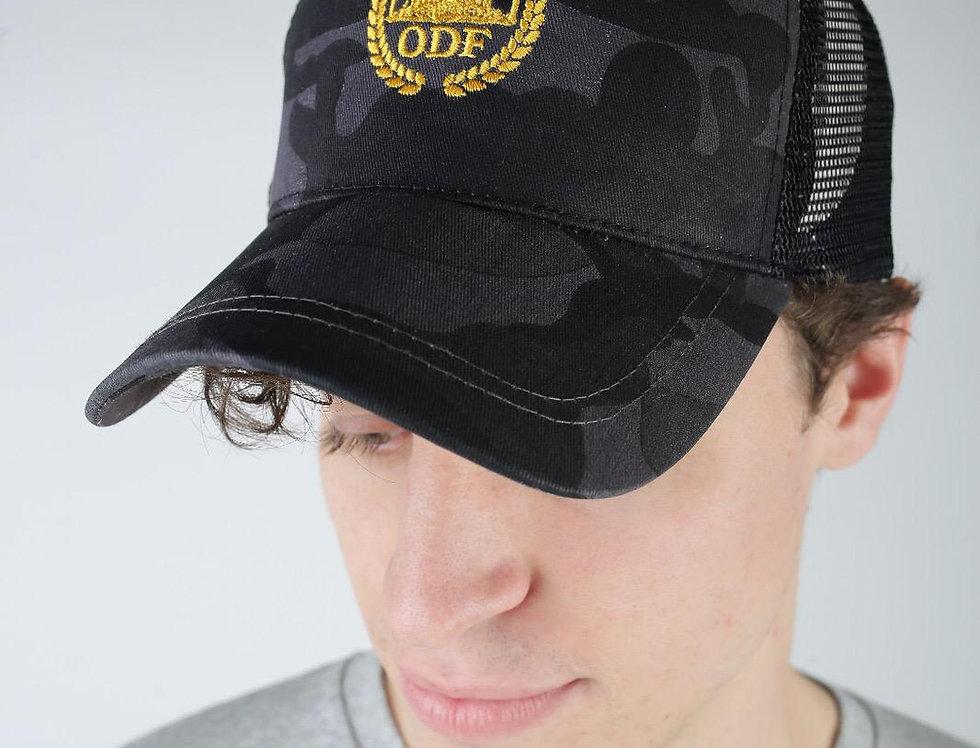 CLASSIC CAMO BLACK/ GOLD TRUCKER CAP