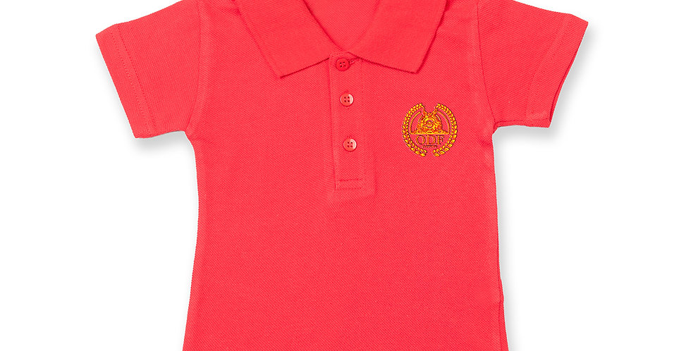 RED COTTON INFANT/TODDLER POLO