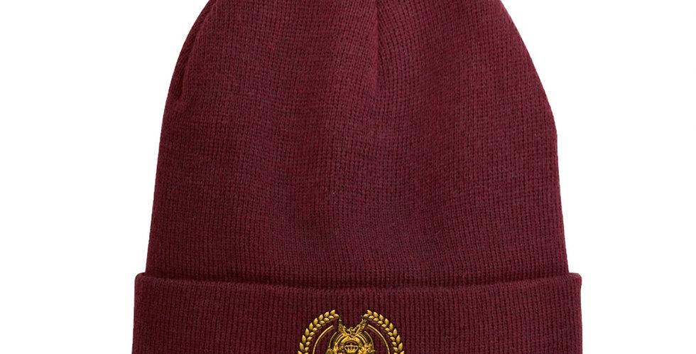 Burgundy ODF logo-embroidered wool-blend beanie hat