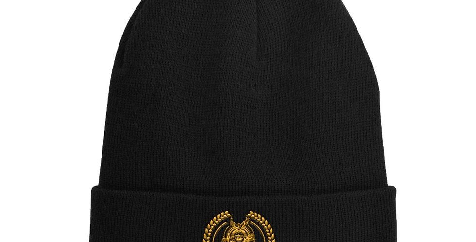 Black ODF logo-embroidered wool-blend beanie