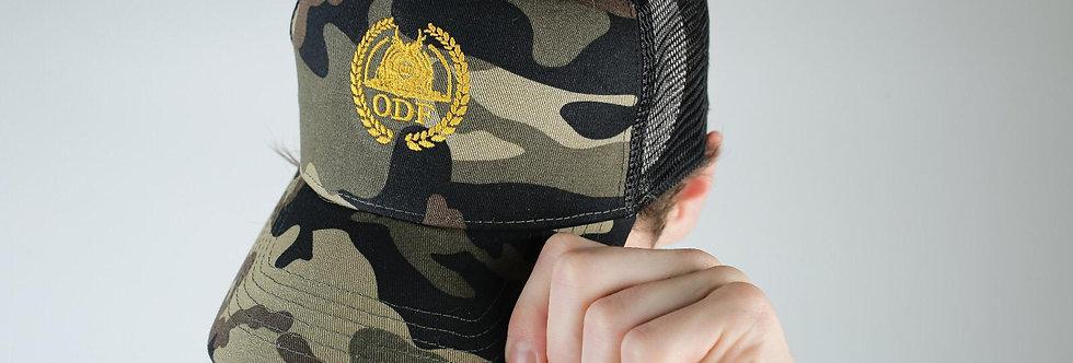 CLASSIC CAMO GREEN/ GOLD TRUCKER CAP