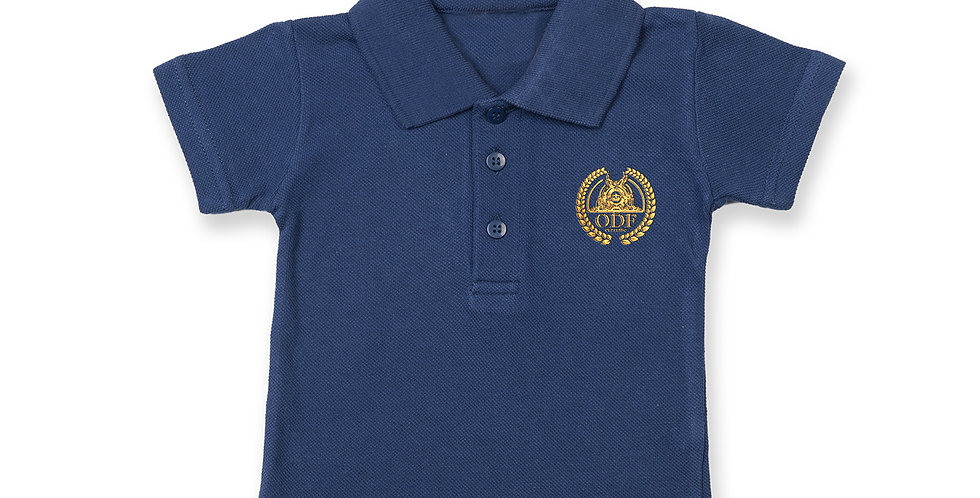 NAVY BLUE COTTON INFANT/TODDLER POLO