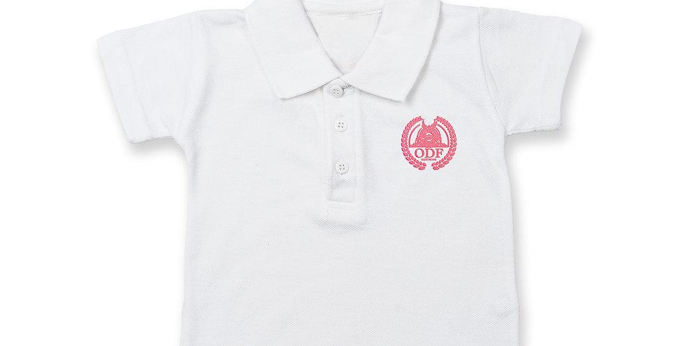WHITE COTTON INFANT/TODDLER POLO (GIRLS)