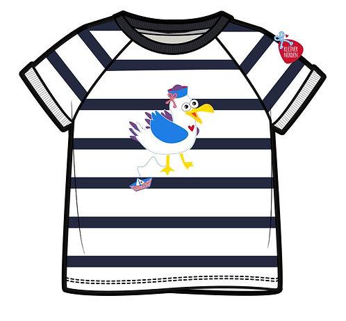 Kinder T-Shirt, maritim Möwe gestickt vom Kleinen Norden