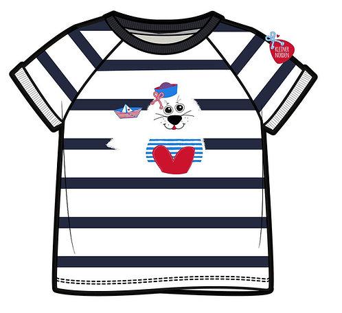 Kinder T-Shirt, maritim Robbe gestickt vom Kleinen Norden