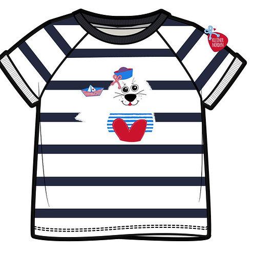 Kinder T-Shirt, maritim Robbe gestickt