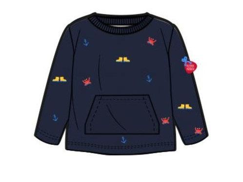Sweater, maritim mit Küstentiere & Gummistiefel gestickt