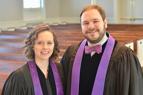 Co-pastors Katie and John Callaway
