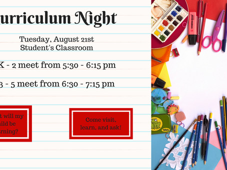 Curriculum Night