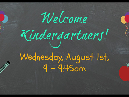 Kindergarten Welcome!