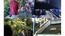 Indio e Erico da Equipe ActionFly, gravam documentário para o Filme História do Voo Livre no canal O