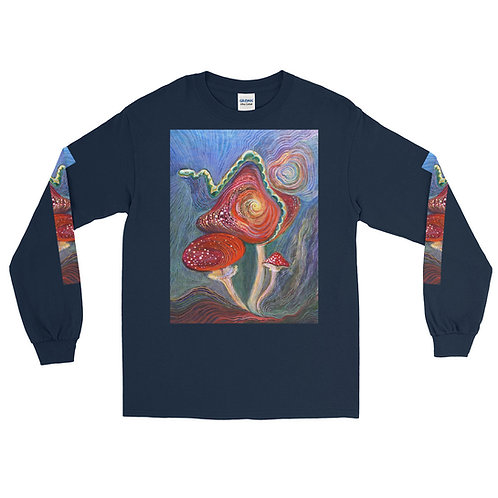 Mushroom Wisdom Top -Oversized Long Sleeve Shirt (men's sizing)