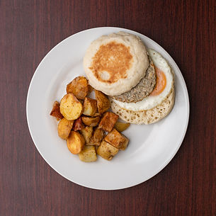 Breakfast Sandwich with Home Fries