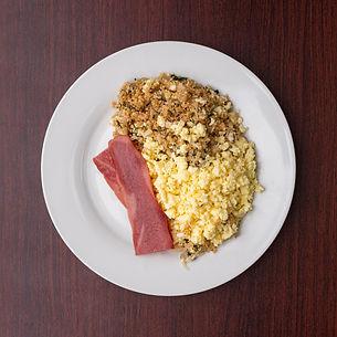 Scrambled Eggs with Quinoa Hash