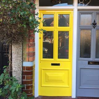 Exterior front door painter yellow