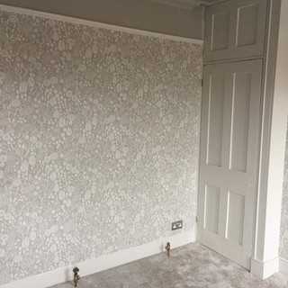 Total room transformation, client chose Farrow & Ball paints & wallpaper. Walthamstow E17