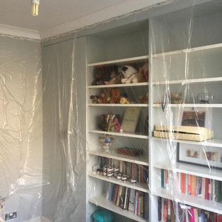 Starting to prep the shelving unit to be painted