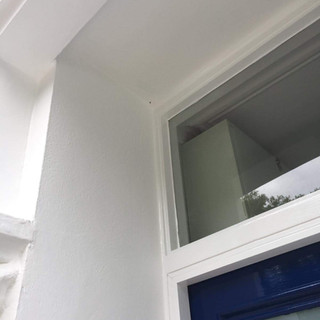 Exterior painted white