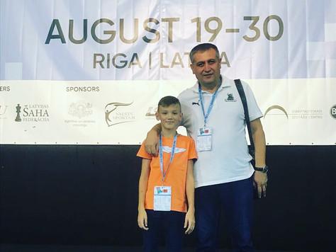 Наш воспитанник Коблов Егор (2009 г.р.) принял участие в Риге (Латвия) в первенстве Европы по шахмат