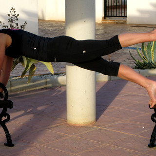 Pilates matwork Plank leg pull