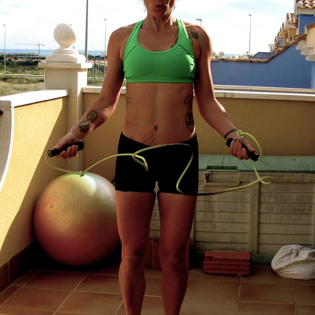 Lisa Jones skipping rope fitness