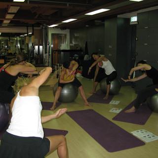 fitball pilates stretch balance