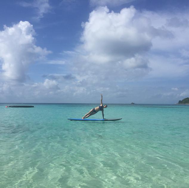 pilates balance yoga paddleboard