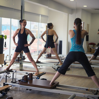 reformer advanced splits pilates