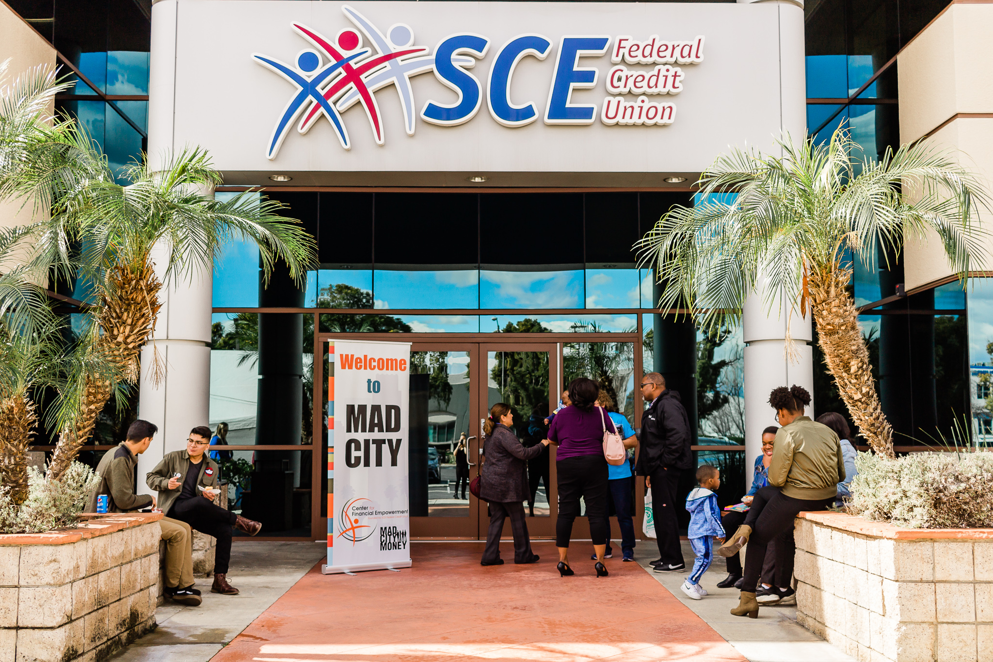 Building with SCE FCU logo