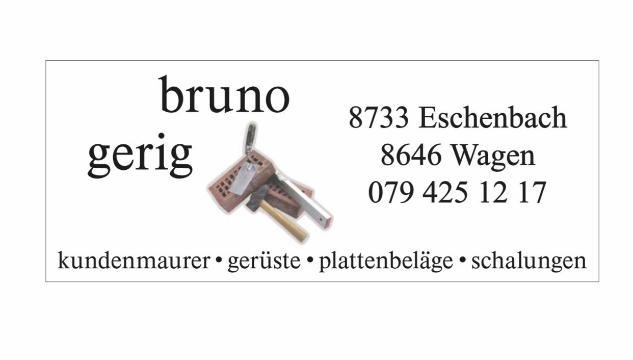 Bruno Gerig Kundenmaurer